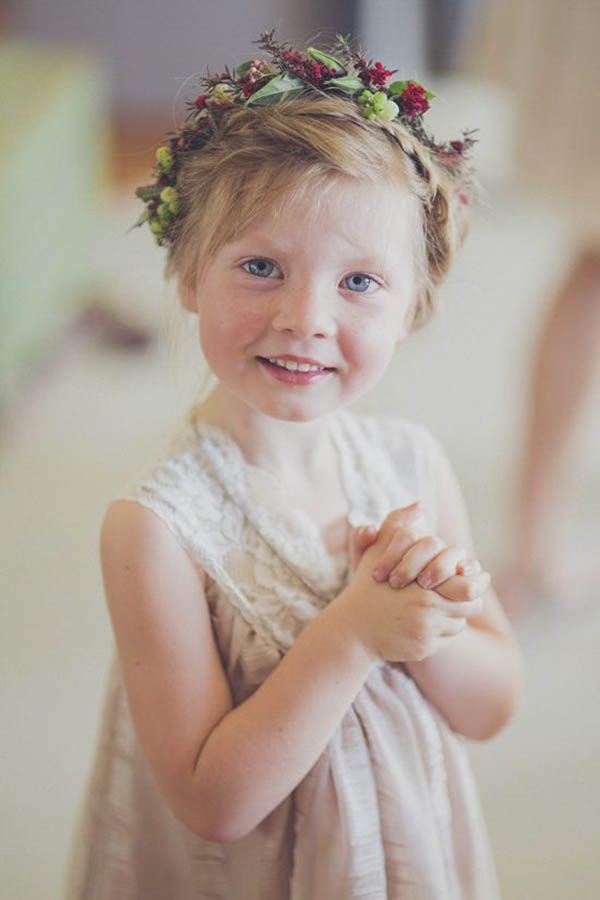 Sweet Flower Girl With Flower Crown | Shot From the Heart Photography on…