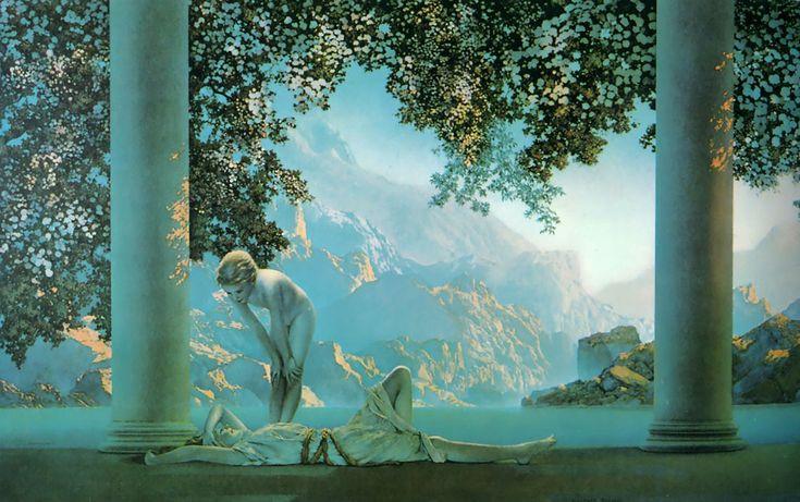 Maxfield Parrish (1870-1966)  Daybreak, Oil on canvas, 1922