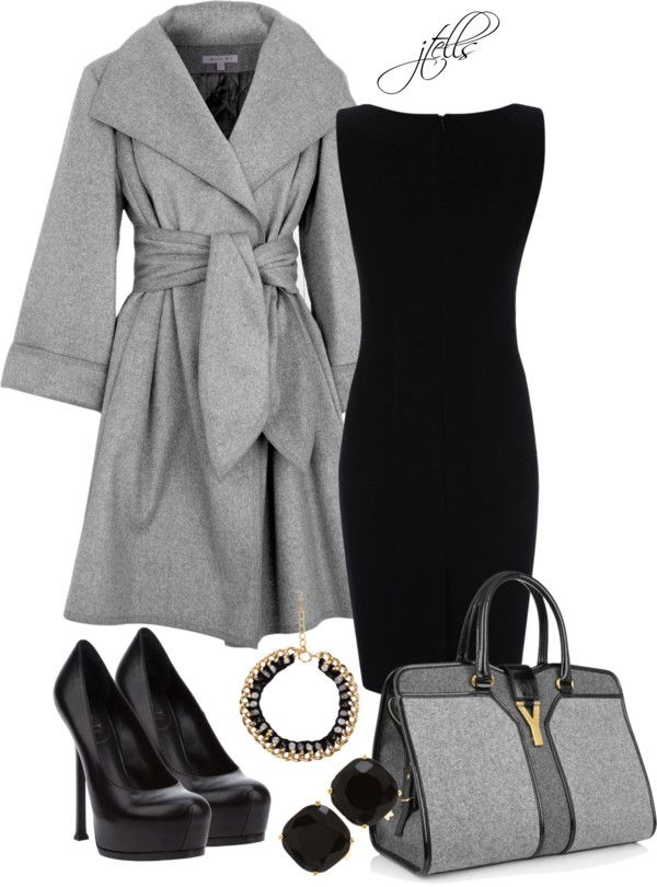 Love the coat, dress, purse & jewelry. Great to have for weddings, funerals & any dressy occasion. Just need to find low, comfortable black pumps.