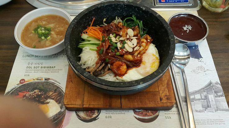 Dolsot bimbimbap @daebak #koreantastefood