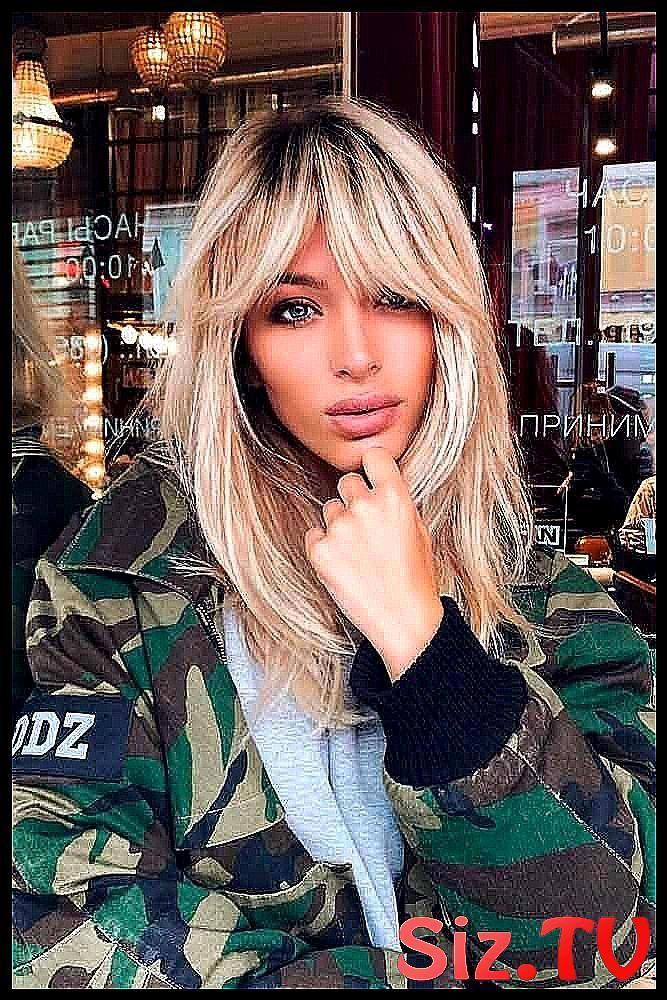 Short Forehead Blonde Hair Long Hairstyles I Make #Bangs #Basics #Blonde Hair # Choose #Classic Tighteners -