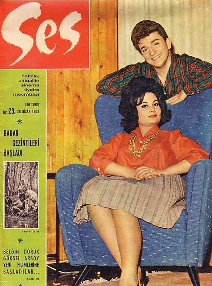 Ses Dergisi'nin kapağında Zeki- Müren ve Belgin Doruk