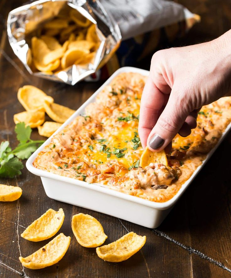 This easy Cheesy Sausage Dip is made from just 5 ingredients and will be everyone's favorite appetizer at your next gathering.