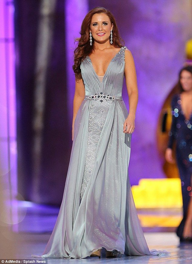 Scare: Miss Rhode Island Ivy DePewcollapsed onstage and was taken to a hospital for treatment Tuesday evening