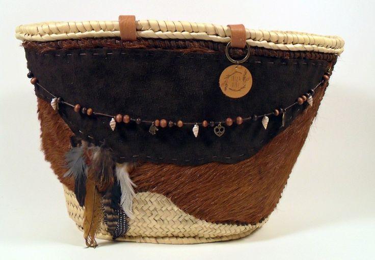 Boho shopping / beach bag Classic Brown   Ibiza Vibe