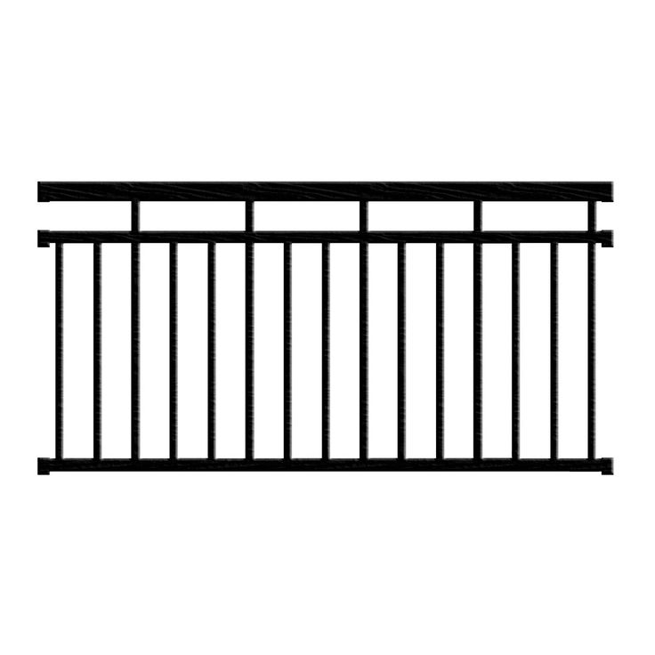 Railing can take 2-3 weeks to ship depending on color. Contents: top rail, bottom rail, pre-installed baluster connectors, top & bottom rail mounting brackets, bottom rail support & hardware, square b