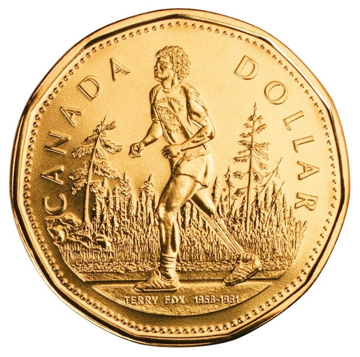Canada 2005 Terry Fox loonie
