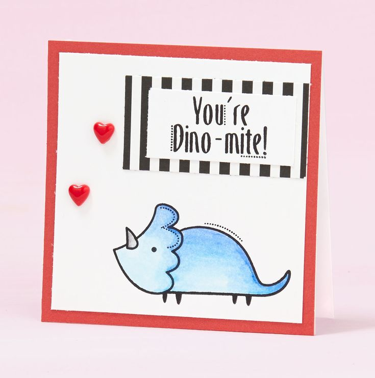 Let La Vie En Rose help you with your Valentines with the Darling Dinos stamp set