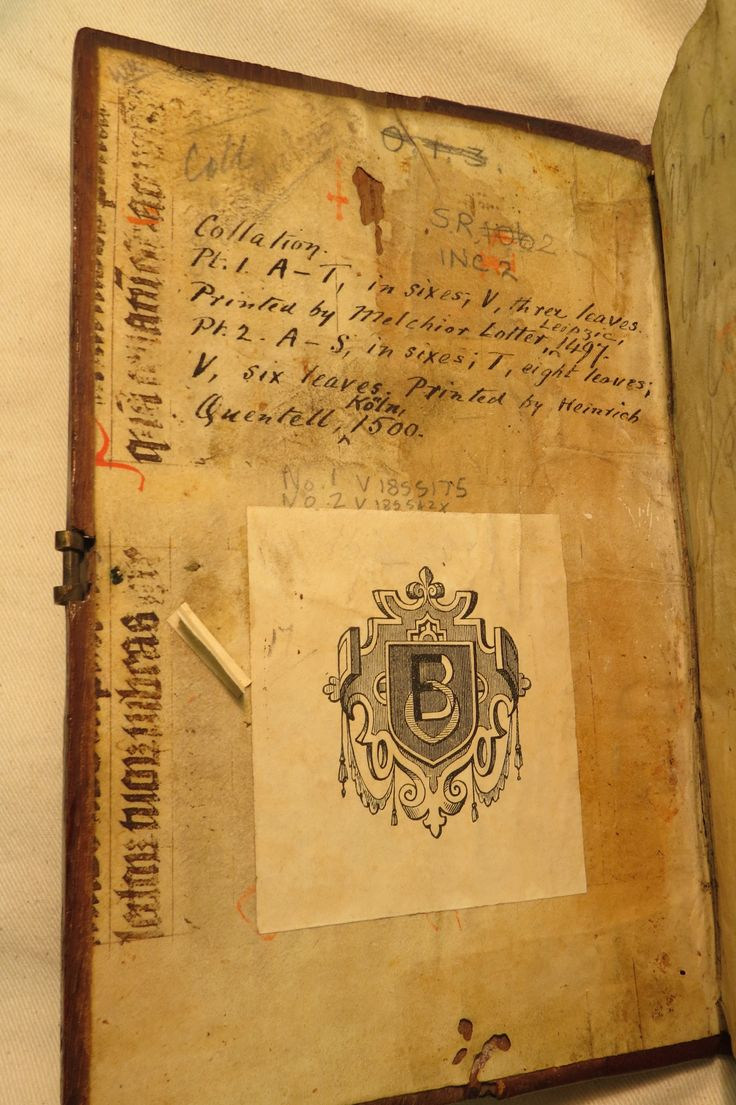 Inc 2. Author: Alexander, de Villa Dei . Title: Grammatica Latina Alexandri. 1497: 1500. MS bibliographical references on front flyleaf, including collation details.