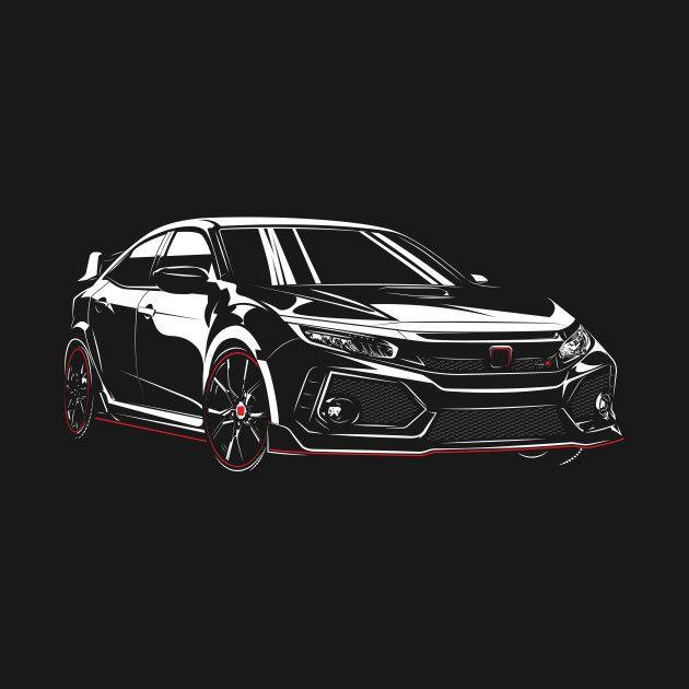 Honda Civic 2017 Fk8 T Shirt Honda Civic Honda Civic Type R Honda