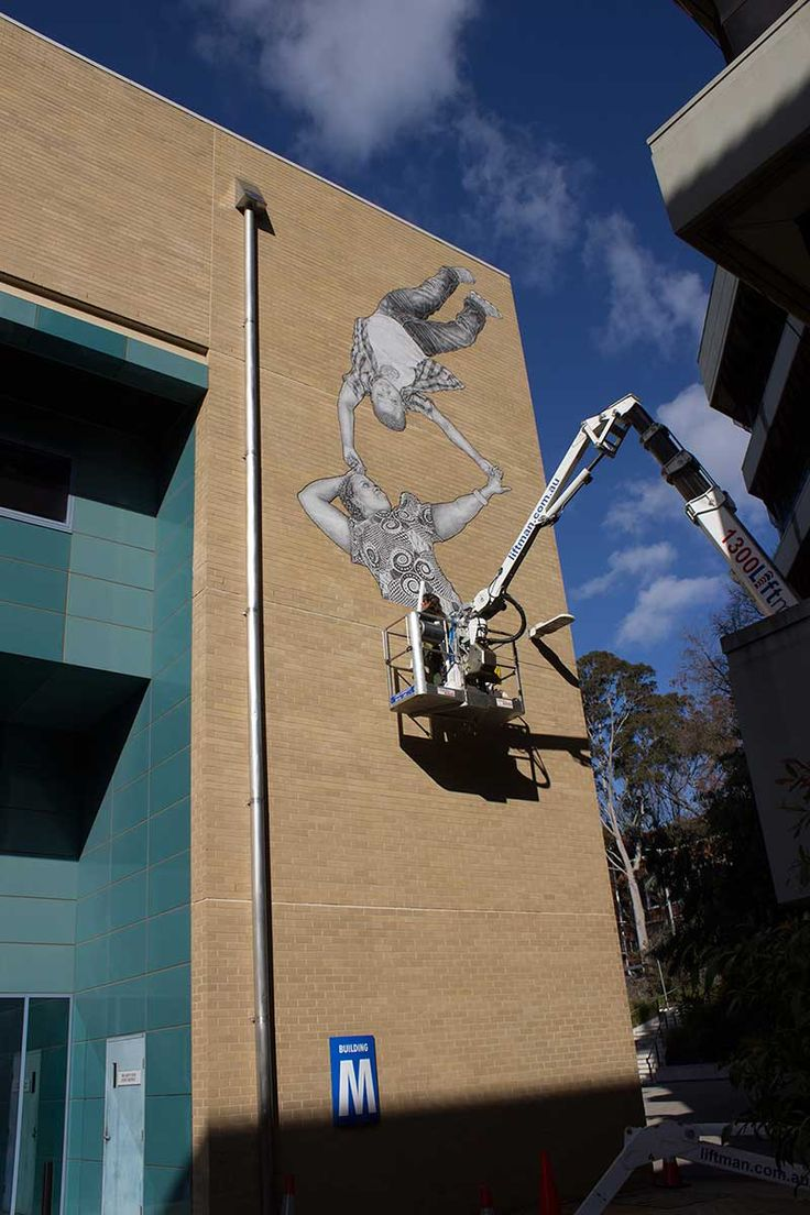 BABY GUERILLA  .. for Victoria University ..  [Melbourne, Australia 2015] (mural I - work in progress)