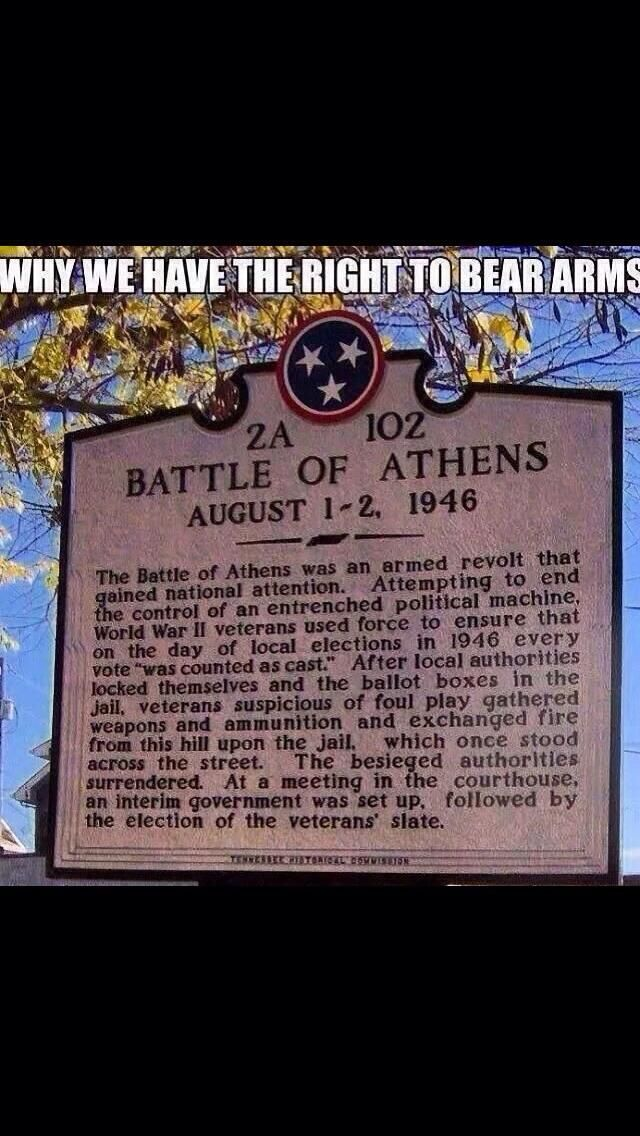 The American right to bear arms