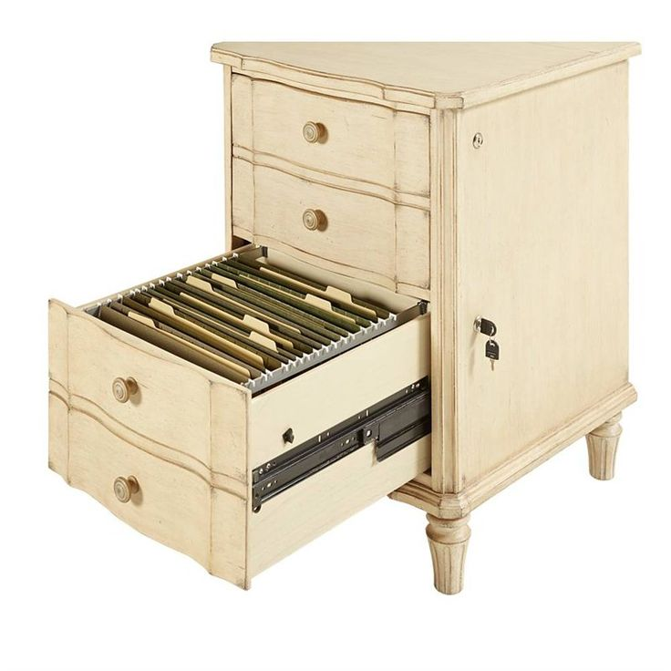European Cottage   File Drawer Chest In Vintage White     Home Office   Stanley  Furniture
