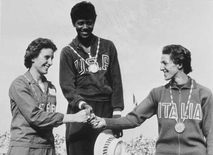"Wilma Rudolph - 1956 Bronze Medalist in 400-meter relay at 16.  At the 1960 Olympics in Rome, she won gold medals in the 100 meters, 200 meters and 400-meter relay, as she earned the nickname ""The Tornado."""