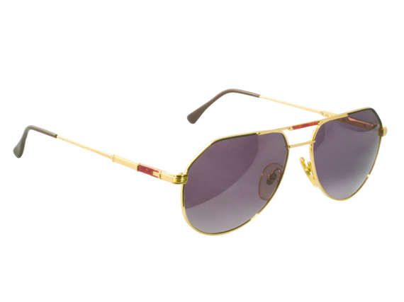 Tullio Abbate vintage sunglasses, made in Italy in the 80s. Vintage aviator sunglasses men and women / Gold aviator glasses / Italy vintage eyewear