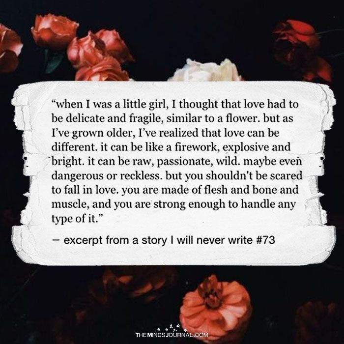 When I Was A Little Girl, I Thought Love had To Be delicate And Fragile, Similar To A Flower - https://themindsjournal.com/little-girl-thought-love-delicate-fragile-similar-flower/