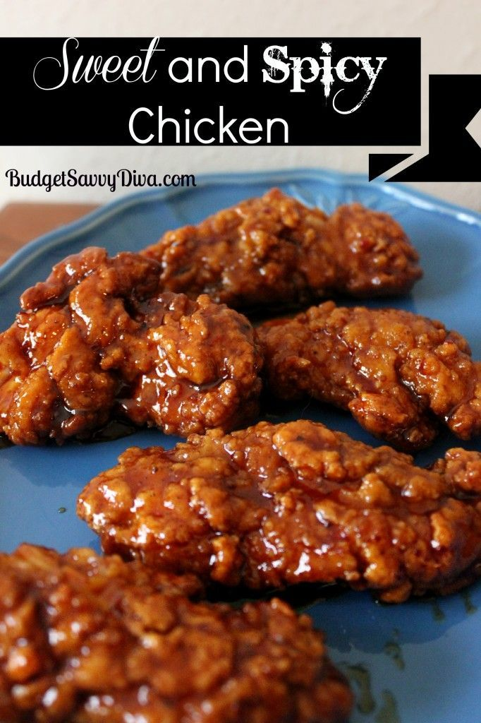 Sweet and Spicy Chicken : budgetsavvydiva --- pp:  next time I would use a little less hot sauce, a little more barbecue sauce.