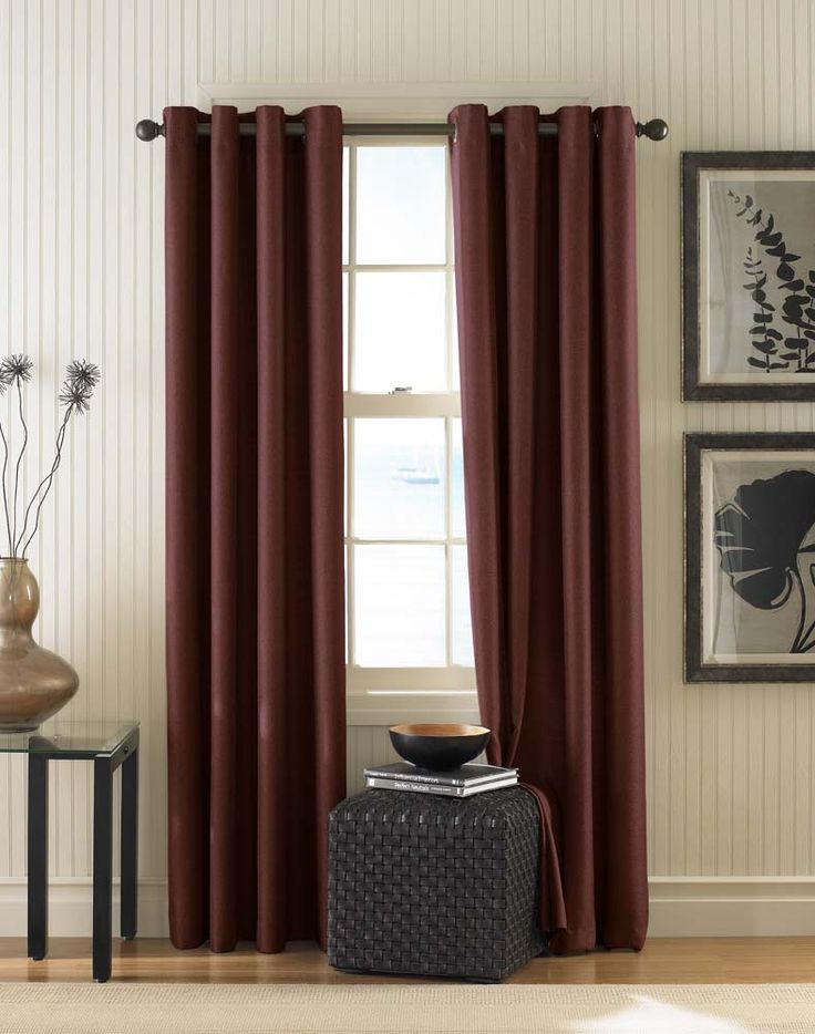 Monterey Textured Lined Grommet Drapery / Curtainworks.com Den In Cinnabar. Cheap  CurtainsGrommet CurtainsValanceDrapery ...