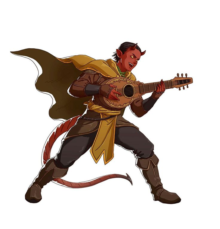 [Commission] Therius the Halfling Bard