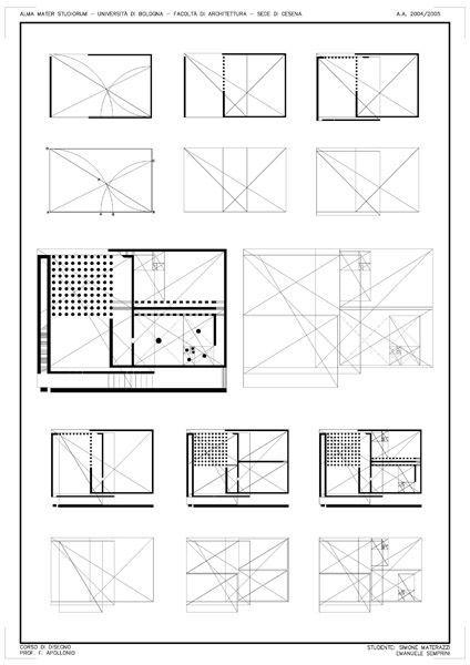 Geometric framework of Danteum plan using golden sections.: