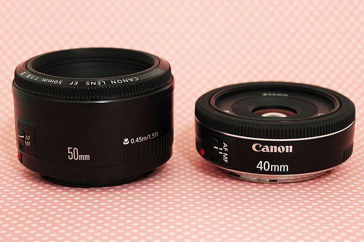 Comparação das lentes: 50mm f/1.8 II x 40mm, f/2.8 STM