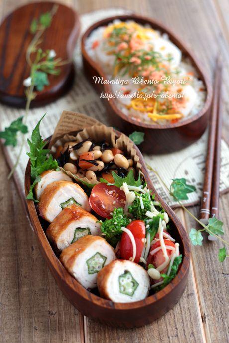 散らし寿司とオクラのささ身巻き弁当~パパのお弁当~の画像 | 毎日がお弁当日和♪