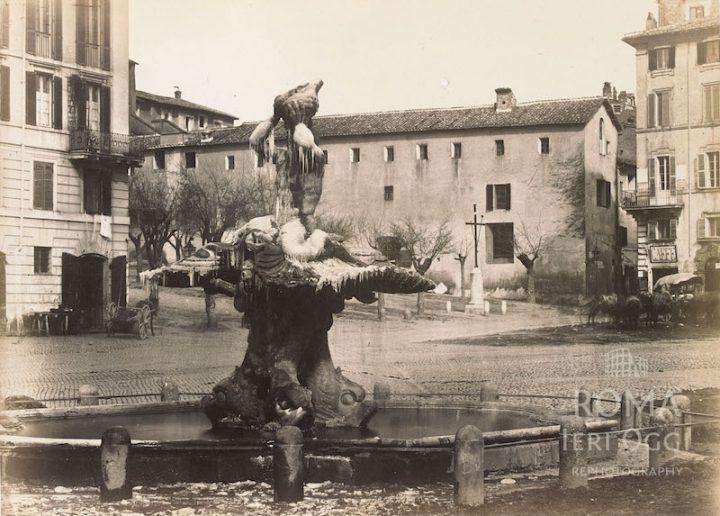 Piazza Barberini (1860 ca)