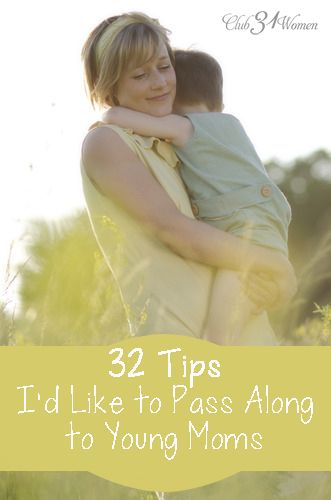 So what would I pass on to moms who are at the starting point of this journey? What to offer now that I can look back a bit? 32 Tips I'd LIke to Pass Along to Younger Moms