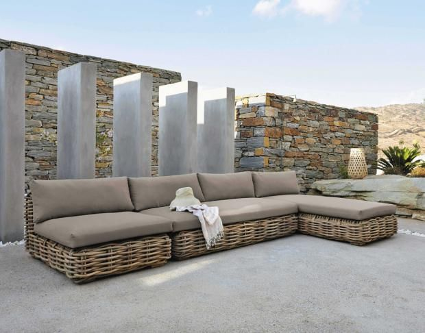 Moderne Rattanmöbel für Haus & Garten  Schwarze gartenmöbel