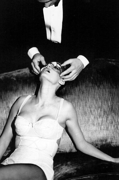 Demi Moore by Ellen Von Unwerth: Photos, 50 Shades, Masquerade, Masks, Ellenvonunwerth, White, Black, Demi Moore, Ellen Von Unwerth