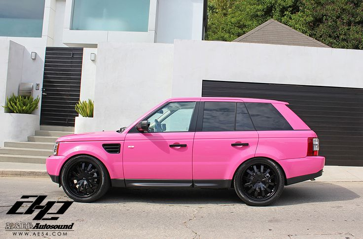 For the ladies... A pink Range Rover Sport!