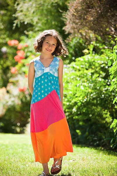 Maxi dress children.  Party like it's 1979 in one of these  funky kids maxi dresses.