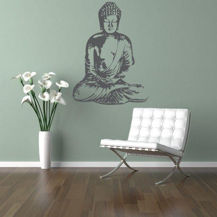 Buddha Wall Decal, Buddha Wall Art, Asian Wall Decal, Nursery Wall Decal, Dorm Decor, Spiritual Wall Decal, Silhouette Wall Art by WallStarGraphics on Etsy https://www.etsy.com/listing/53391349/buddha-wall-decal-buddha-wall-art-asian