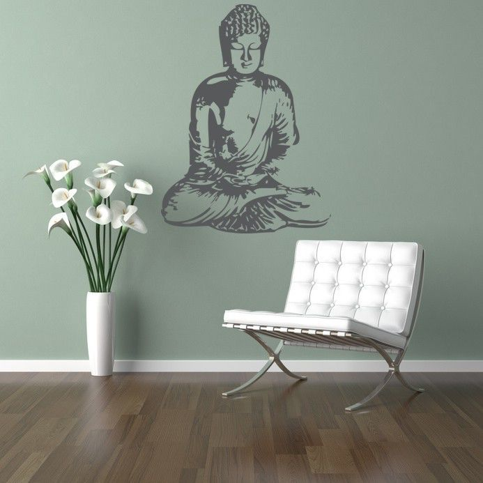 Buddha Wall Decal, Buddha Wall Art, Asian Wall Decal, Nursery Wall Decal, Dorm Decor, Spiritual Wall Decal, Silhouette Wall Art by WallStarGraphics on Etsy https://www.etsy.com/listing/53391349/buddha-wall-decal-buddha-wall-art-asian