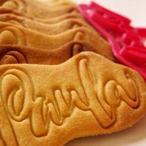Regalo personalizado para niños. Molde de galletas para Paula