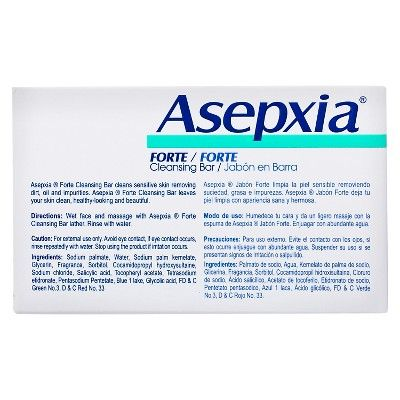 Asepxia Forte Cleansing Bar Soap 4 oz
