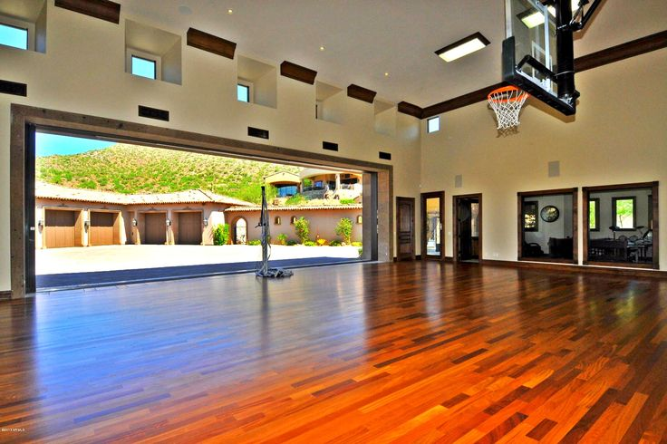 Indoor basketball court home pinterest front yards for Home plans with indoor basketball court