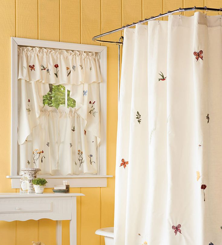 25 best images about bathroom window curtains on pinterest Bathroom valances for windows