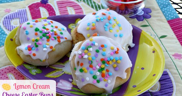 Mommy's Kitchen - Recipes From my Texas Kitchen!: Lemon Cream Cheese Easter Buns