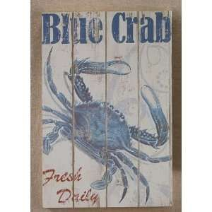 blue crab decorations for home | Maryland Blue Crab Wooden Wall Plaque Art Decor: Home & Kitchen