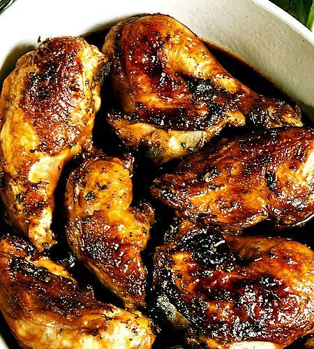 Soja och ingefära ger kycklingen en liten asiatisk känsla. Förstärk gärna den känslan med att servera jasminris till.