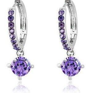 CE45 Circle CZ Earrings genuine circle zircon earring  jewelry earrings for women Y191 6.8-in Drop Earrings from Jewelry on Aliexpress.com