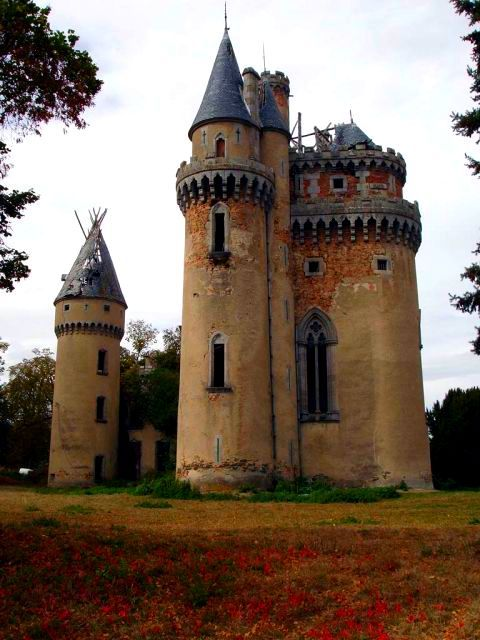 Chateau de Bagnac- in the department of Haute-Vienne, Limousin, France. The foundation of the chateau dates back to the 13th century. It was modified in the 19th century and was later used to house refugees in WWII. In the 1950s a family tragedy led to the chateau's abandonment.