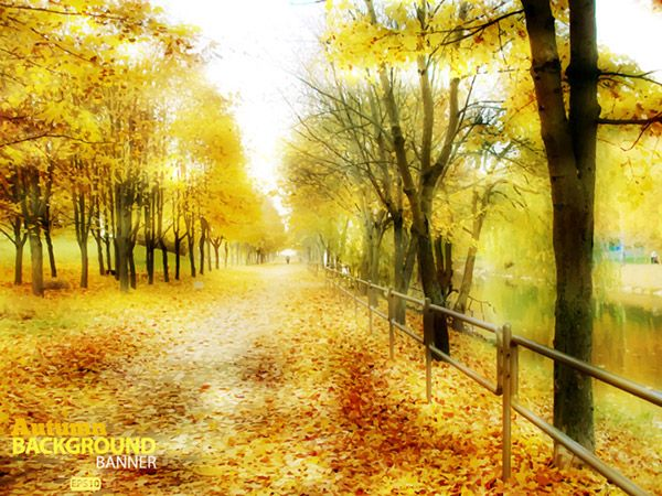 sfondo paesaggio autunno dorato