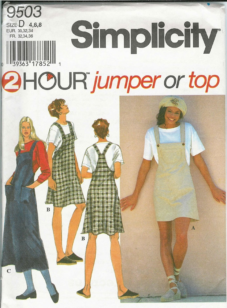 Simplicity 9503 Sewing Pattern Teens And Womens 2 Hour