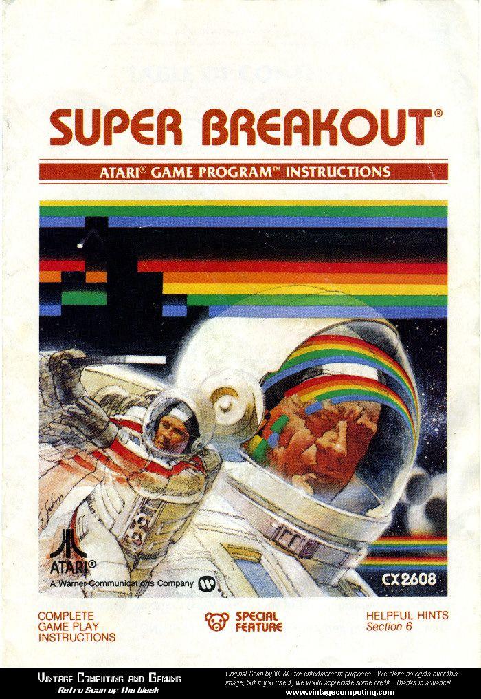 super breakout atari game...my favorite atari game!!