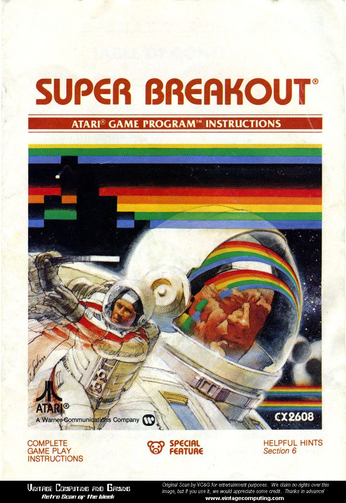 super breakout atari game...my favorite atari game!!