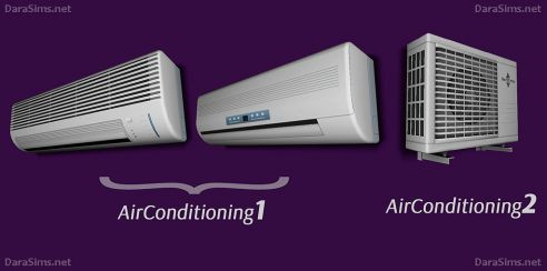 My Sims 4 Blog: Radiators, Air Conditioners and Blinds by DaraSims