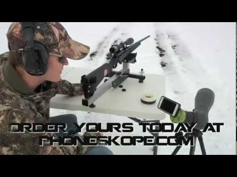 Using a smart phone scope adapter to sight in a rifle scope With Phone Skope