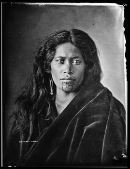 """""""maori woman"""". Auckland. 1880"""